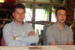 Tomáš Topinka s Václavem Milíkem na dnešní tiskové konferenci