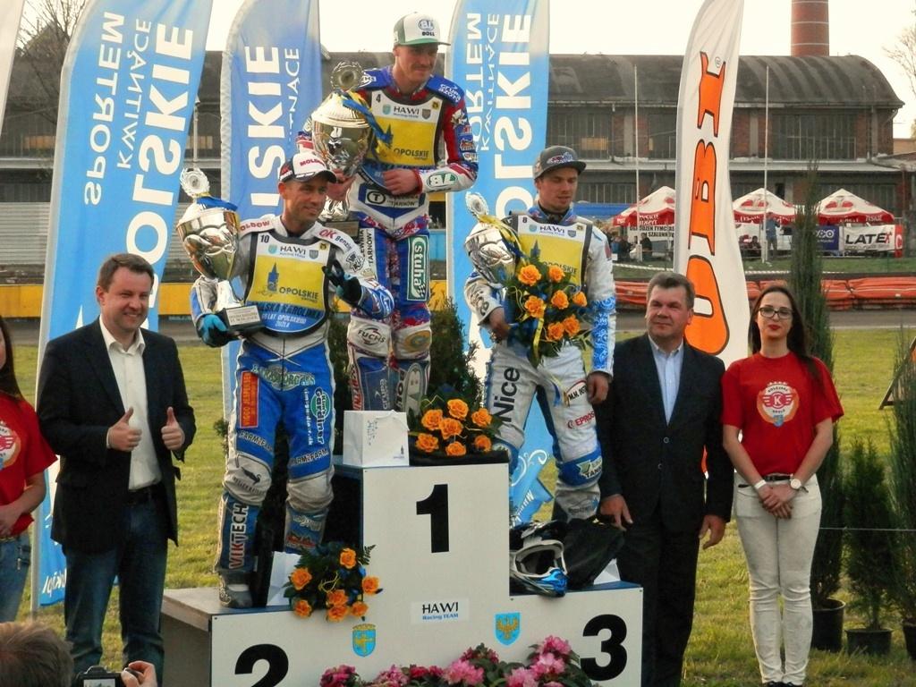Nicki Pedersen, Martin Vaculík a Krzysztof Buczkowski na stupních vítězů