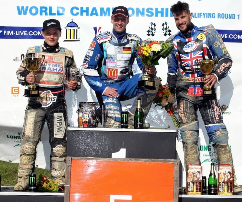 Josef Franc, Jörg Tebbe a Glen Phillips stojí na stupních vítězů