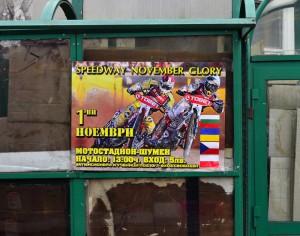 Česká vlajka na plakátu závodu v Šumenu byla i kvůli Martinu Mejtskému