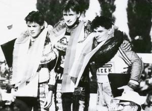 Stupně vítězů Zlaté stuhy 1991: Tomáš Topinka, Rostislav Bureš a Vladimír Višváder