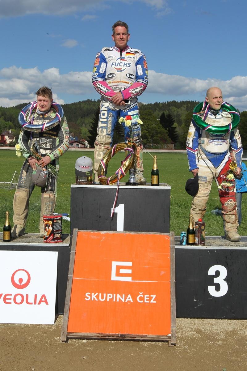 Markus Eibl, Stephan Katt a Josef Franc na stupních vítězů