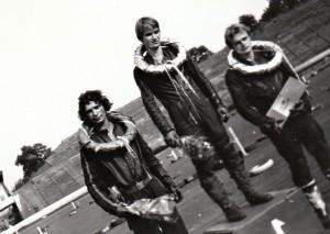 Na stupních vítězů juniorky v Ostravě roku 1976 stojí zleva Josef Rybář, Luboš Tomíček a Jiří Svoboda
