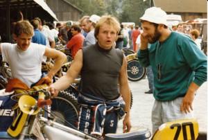 S legendárním Erikem Gundersenem ve finále mistrovství světa na dlouhé v Pfarrkirchenu 1986
