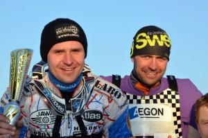 Lukáš Volejník (vpravo) si v Kopřivnici vyjel evropský šampionát, avšak díky smůle v Holicích se neobjeví v národním týmu po boku Antonína Klatovského