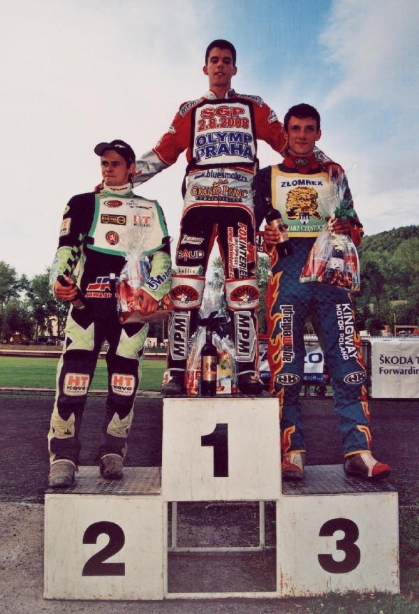 Poslední mistrovský závod se v Kopřivnici konal v červnu před devíti lety - a na pódium juniorky tehdy stanuli Hynek Štichauer, Matěj Kůs a Mateusz Kowalczyk