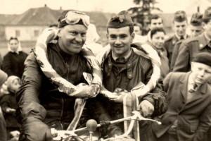 Chotusice 1963, první závod v barvách Dukly spolu s Františkem Helikarem