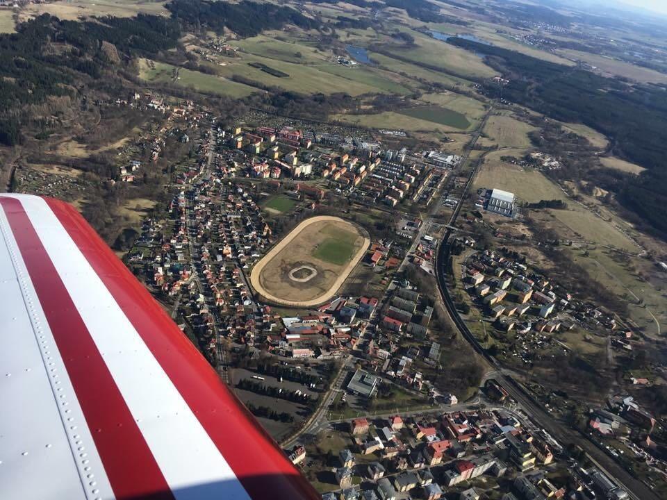 Letecký snímek od pana Dubského z jeho soukromého letadla