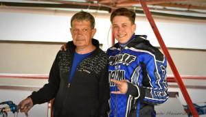Patrik Mikel - na snímku se svým otcem Františkem - už dnes myslel na zítřejší extraligu