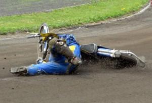 Krzyzstof Nowacki již po svém pádu v šesté jízdě nemohl v závodě pokračovat