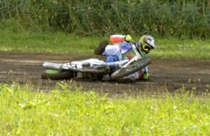 Jan Vaňátka rozhrával dnešní závod pádem