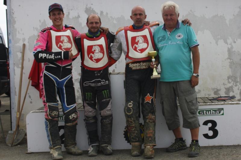 Prvoligoví přborníci: zleva Patrik Mikel, Tomáš Suchánek, Jaroslav Petrák a Lubomír Vozár