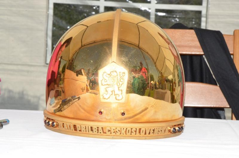 Zlatá přilba z roku 1976 byla skvělým exponátem výstavy
