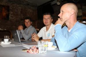 Tomáš Topinka, Pavel Ondrašík a Josef Franc na dnešní tiskové konferenci
