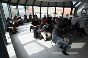 Salónek v nejvyšším patře budovy AČR byl skvělým místem pro prezentaci