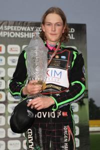 Novopečený světový čtvrtlitrový šampión Jonas Knudsen absolvoval akademii v Horsensu