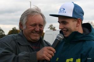 U mikrofonu s Eduardem Krčmářem