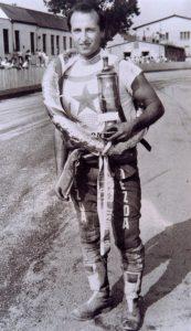 Petr Vandírek v Březolupech bezprostředně po zisku svého titulu mistra republiky v červnu 1989